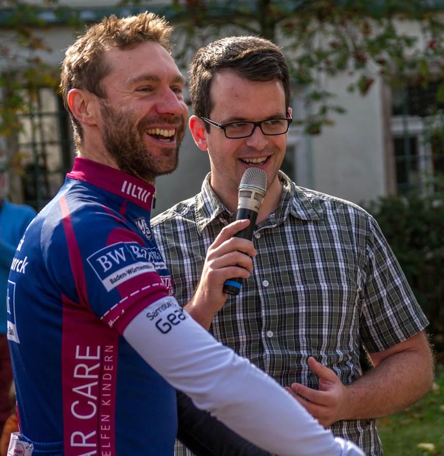 Mit dem Tour-de-France-Etappensieger Jens Voigt.