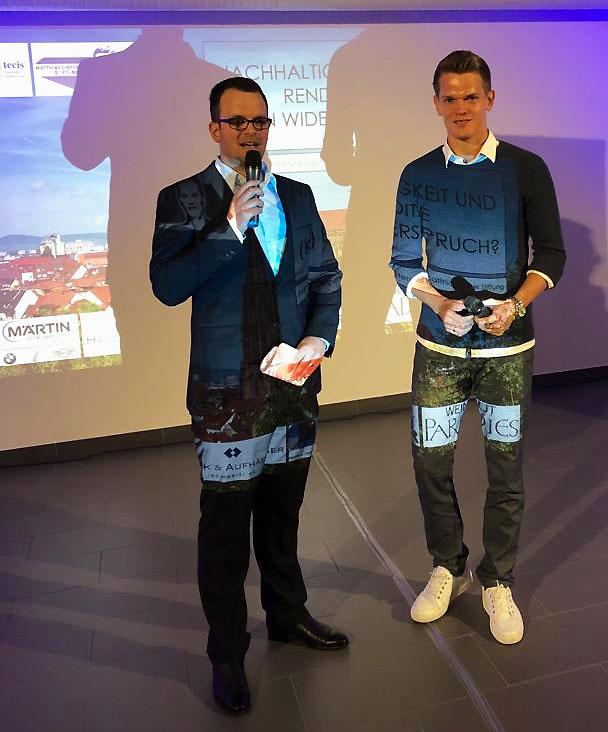 Mit Fußball-Weltmeister Matthias Ginter.